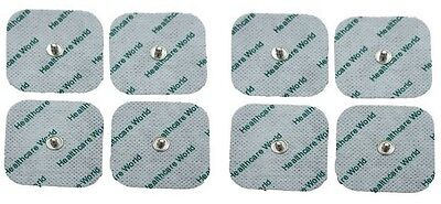 TENS Electrode Stud Pads 3.5mm Stud 5 x 5cm Square Pads by Healthcare World x8