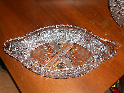 American Brilliant Cut Glass Ice Cream Dish
