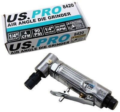 "AIR DIE GRINDER 90° ANGLE with 1/4"" COLLET by BERGEN TOOLS"