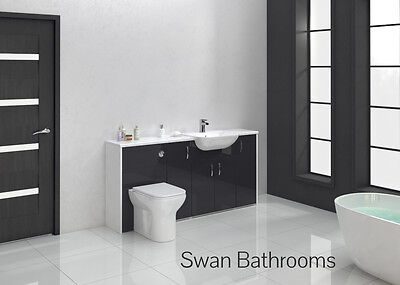 Anthracite Gloss Bathroom Fitted Furniture 1700Mm