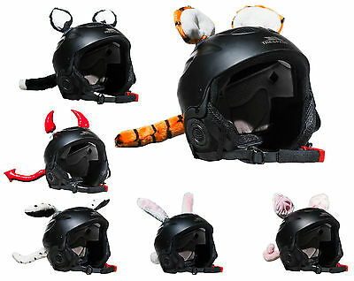 Crazy Helmet Ears - Ski, Motor Bike Helmet Ears with Tail - Assorted Styles