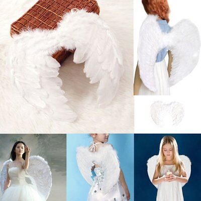 New Feather Fairy Angel Wings Party Fancy Dress Costume Accessory 45*35cm  OK