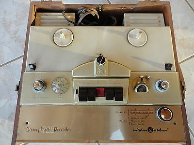 Vintage Voice of Music reel-to-reel tape recorder