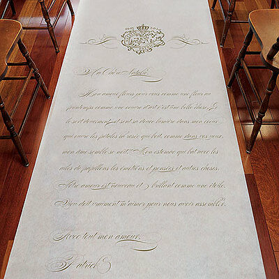 Parisian Love Letter French Personalized Wedding Ceremony Aisle Runner Q26915