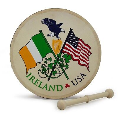 Irish 8 Inch Celtic Bodhran Pack - Various Designs
