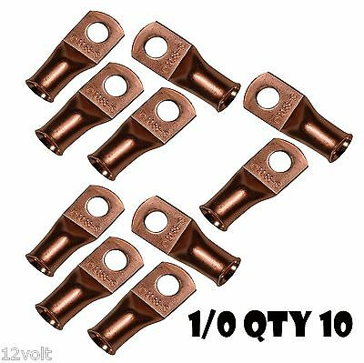 10 - 1/0 gauge 1/0 AWG x 5/16 inch copper lug battery cable terminal connector