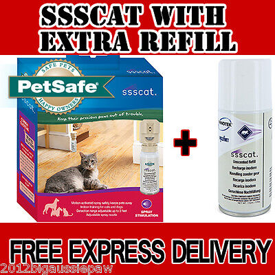 SSSCAT Spray Deterrent Cat & Dog Repellent with Extra Refill