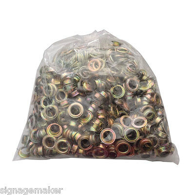 500pc/lot 4# ( 10.5mm ) Yellow Iron Grommet For Manual Smart Eyelet Puncher Tool