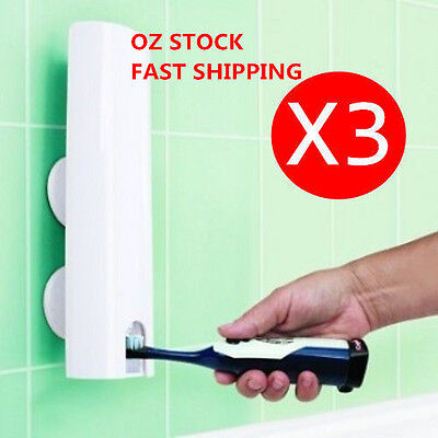 3X Wall Mount Handfree Automatic Toothpaste Dispenser Touch N Brush Holder