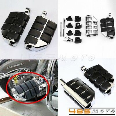 Motorcycle foot rest Pegs Dually Iso Pegs For Male Mount Harley Davidson Chrome