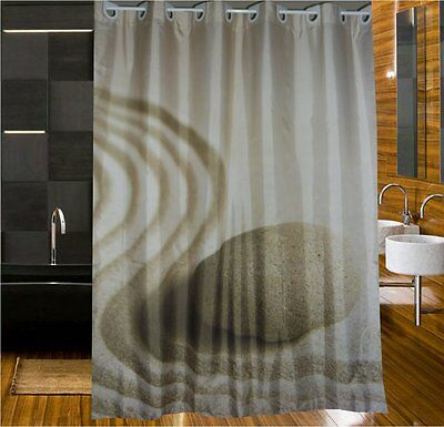New Generation Europe Design Pebble Sand Shower Curtain 2m Long New Free Ship