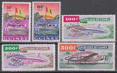 Guinea Guinée 1960 ** Mi.49/53 Olympische Spiele Olympic Games Aircraft [sq4604]
