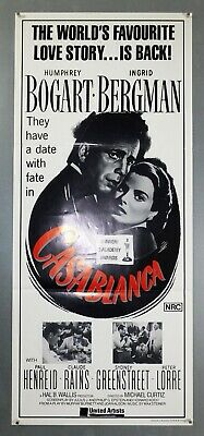 Casablanca - Humphrey Bogart - Original Australian Daybill Movie Poster