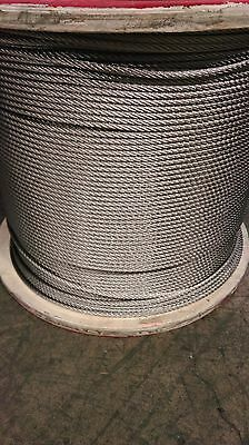 "3/8"" 7x19 Aircraft Cable Stainless Steel grade 316 (1000 feet)"