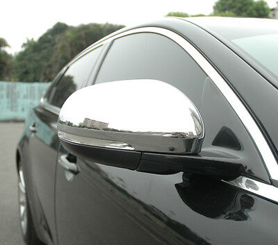 NEW CHROME DOOR WING MIRROR COVER Trims for Jaguar XJ XJR X351 2009 on Luxury