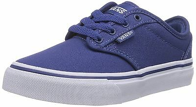 Vans Atwood Bleu Blanc Kids Youth Canvas Baskets Chaussures