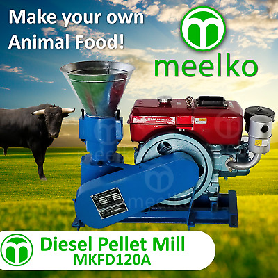 PELLET MILL 8 HP DIESEL ENGINE PELLET PRESS FREE SHIPPING we are manufacturers