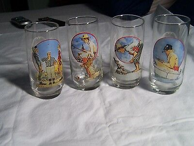 NORMAN ROCKWELL GLASSES. The American Series. CocaCola Co. Saturday Evening Post