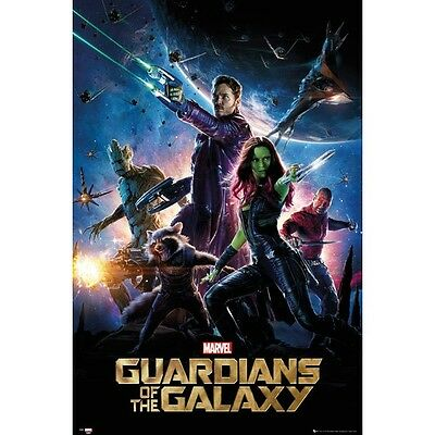 GUARDIANS OF THE GALAXY Poster - Marvel Starlord Full Size ~ Drax Gamora Groot