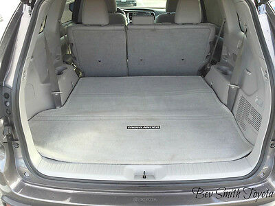 New Oem 2013-2015 Toyota Highlander Gray Cargo Mat Models W/ Third Row Seat