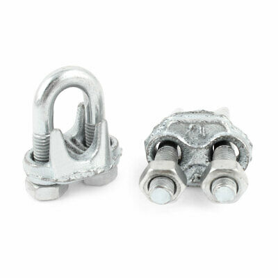 2 Pcs Metal Wire Rope Clip U-Bolt Cable Clamp 12mm