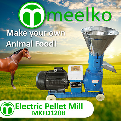 PELLET MILL 4HP 3KW ELECTRIC for ANIMAL FOOD  FREE SHIPPING