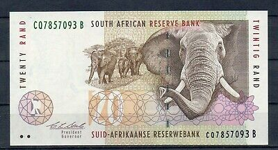 SOUTH AFRICA 20 Rand UNC 1993 p-124a