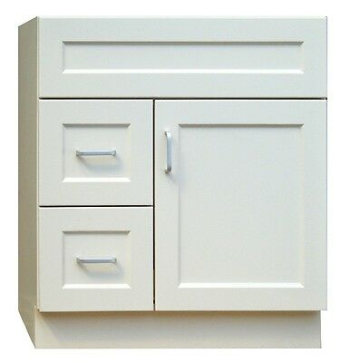 30 inch Base Cabinet with 2 drawers on right or left