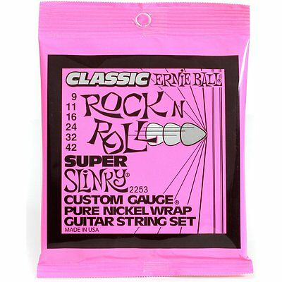 Ernie Ball 2253 Super Slinky Pure Nickel Electric Guitar Strings 9-42