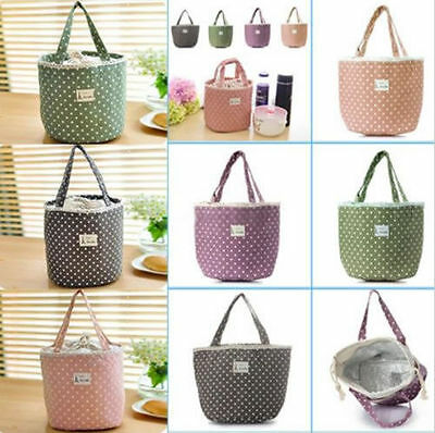 Thermal Insulated Lunch Box Carry Tote Cooler Bag Small Lunch Kitchen Container