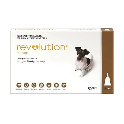 Revolution Flea Control for Dogs 5.1-10kg - Brown Pack