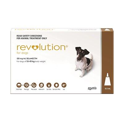 Revolution Flea & Worm Control for Dogs 5.1-10kg + Bonus Canex All Wormer