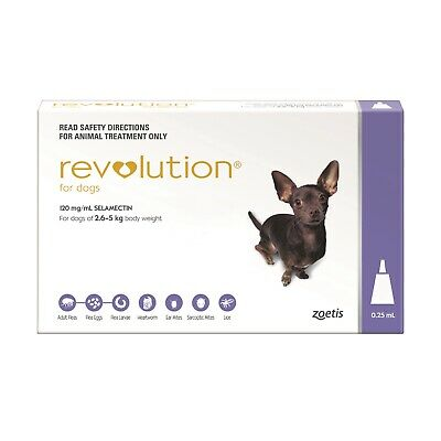 Revolution Flea & Heartworm Control for Dogs 2.6-5kg + Canex Intestinal Wormer