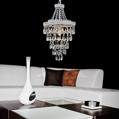 MODERN CRYSTAL CHANDELIER CEILING PENDANT 3 DOWN LIGHTS Spraying Iron +Crystal