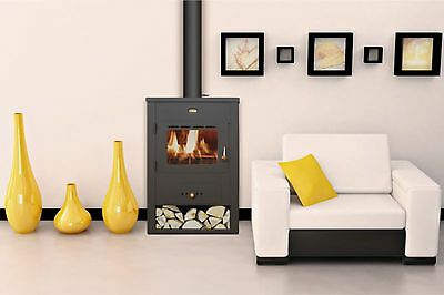 Wood Burning Stove Fireplace Log Burner Solid Fuel Prity K13 FREE GIFT incl