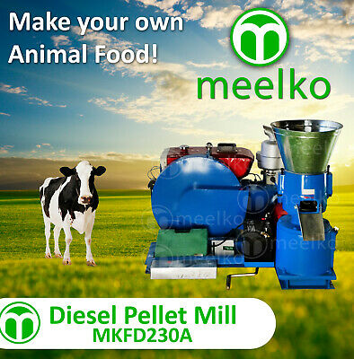 Pellet Mill 22Hp Diesel Engine Pellet Press Free Shipping