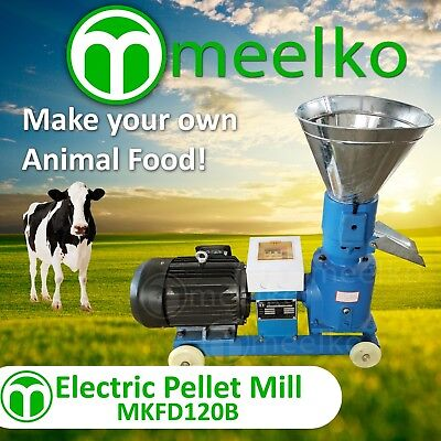 MEELKO andPELLET MILL 4HP 3KW ELECTRIC for ANIMAL FOOD WOOD   FREE SHIPPING