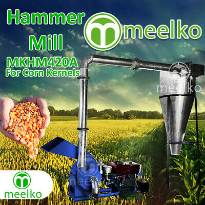 Diesel Hammer Mill for Corn Kernels with Cyclone - MKHM420A - FREE SHIPPING!