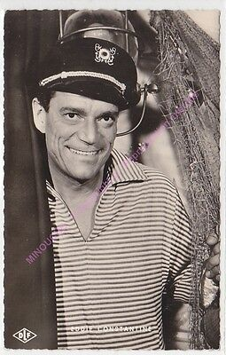 CPSM RPPC STAR EDDIE CONSTANTINE PHOTO DLF in dem film Bonsoir Paris