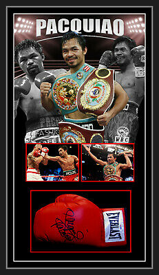 Manny PACMAN Pacquiao SIGNED FRAMED BOXING GLOVE PSA DNA AUTHENTIC # X32457