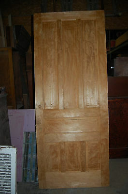 "VINTAGE PINE 7 DOORS FROM ST MARY'S OF THE WOODS 32"" - 39"" x 90-95"" OLD SALVAGE"