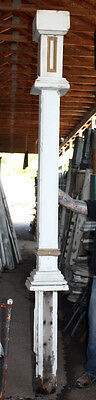 Architectural Salvage Wood Porch Column Large Arts & Crafts Exterior Fluted Post