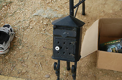 Antique Cast Iron Mail Box With Newspaper Holder Architectural Salvage