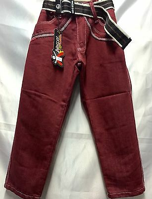 Jeans Kids Boys Pants Maroon 5-10 Years Old DISCOUNTED!!