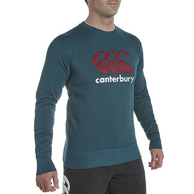Sweat Crew Couleur Bouteille Canterbury TAILLE L NEUF