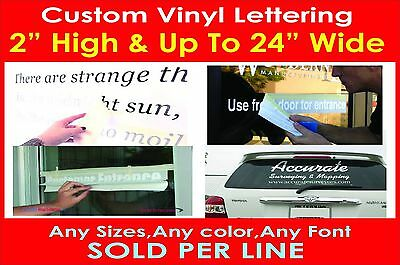 "2"" High Custom Vinyl Lettering Personalized Text Wall Window Car Sticker Decal"