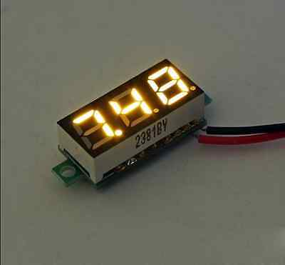 "Mini 2.5V-30V 0.28"" Display LED Digital Voltmeter Voltage Tester Meter Yellow av"