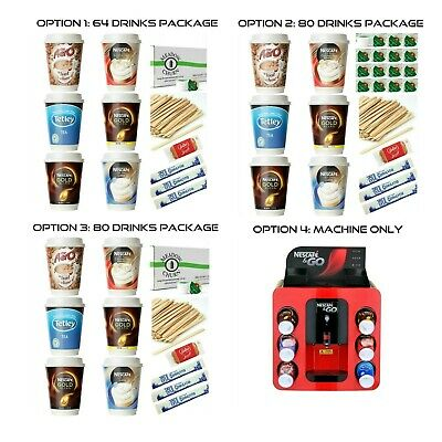 Nescafe and &Go 12oz Incup Hot Drink 1386+pce STARTER Pk or a Vending Machine