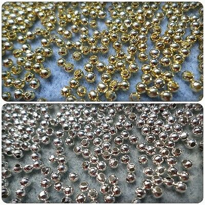 500 x Iron Spacer Beads - Round - 3mm [Gold Plated/Silver Plated Available]