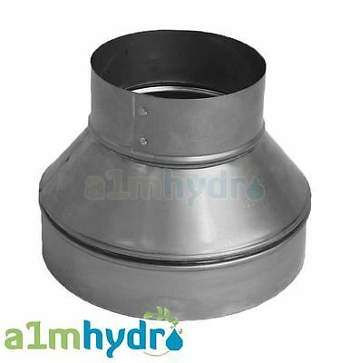 Metal Extraction Fan Ducting Ventilation Pipe Reducer Hydroponics